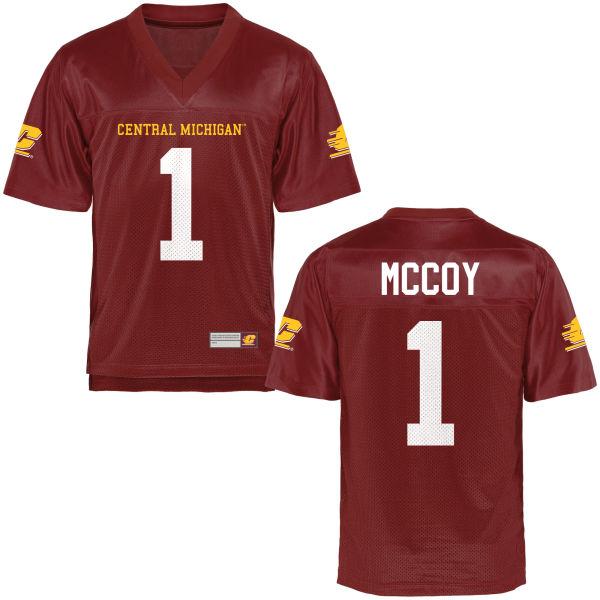 Men's Alonzo McCoy Central Michigan Chippewas Replica Football Jersey Maroon