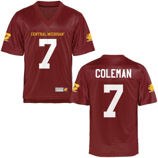 Men's Amari Coleman Central Michigan Chippewas Replica Football Jersey Maroon