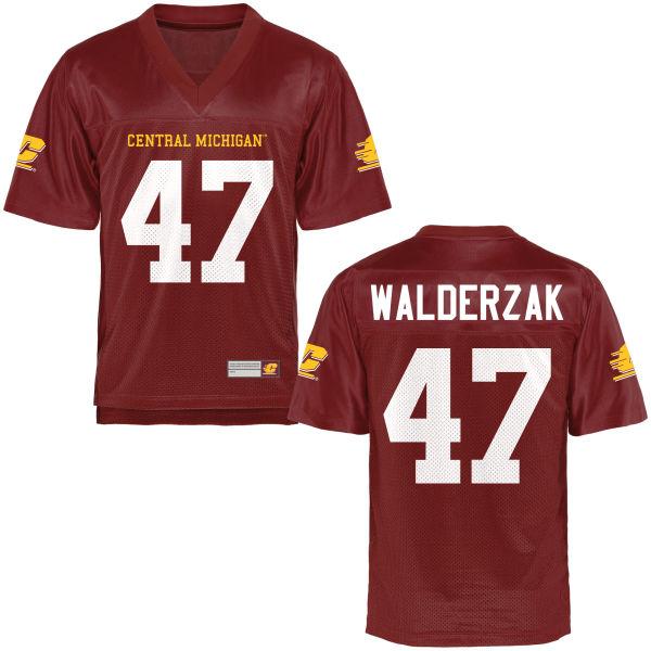 Men's Clay Walderzak Central Michigan Chippewas Replica Football Jersey Maroon