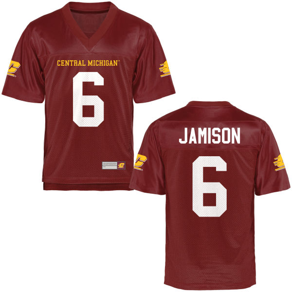 Men's Da'Quaun Jamison Central Michigan Chippewas Game Football Jersey Maroon
