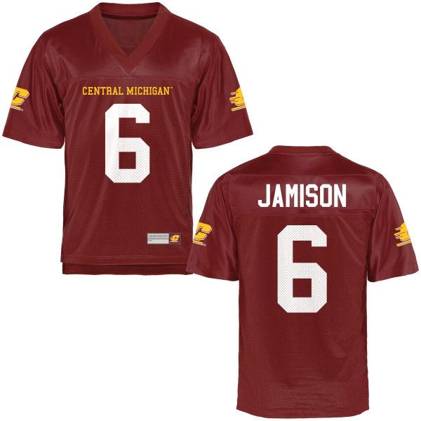Women's Da'Quaun Jamison Central Michigan Chippewas Game Football Jersey Maroon