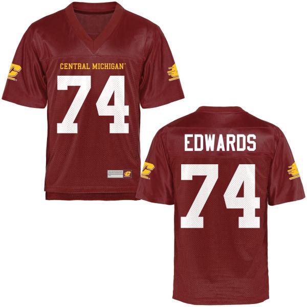 Women's Derek Edwards Central Michigan Chippewas Authentic Football Jersey Maroon