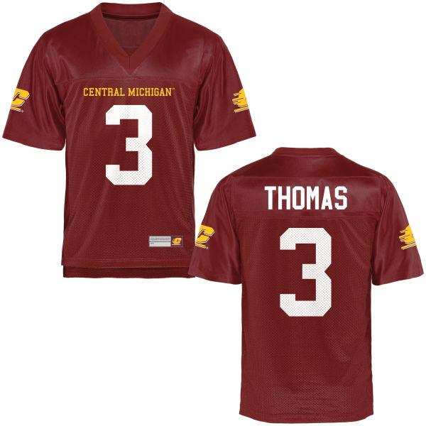 Men's Emmett Thomas Central Michigan Chippewas Game Football Jersey Maroon