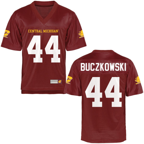 Men's Hunter Buczkowski Central Michigan Chippewas Game Football Jersey Maroon