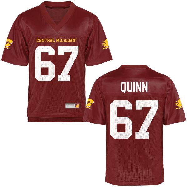 Men's J.P. Quinn Central Michigan Chippewas Replica Football Jersey Maroon