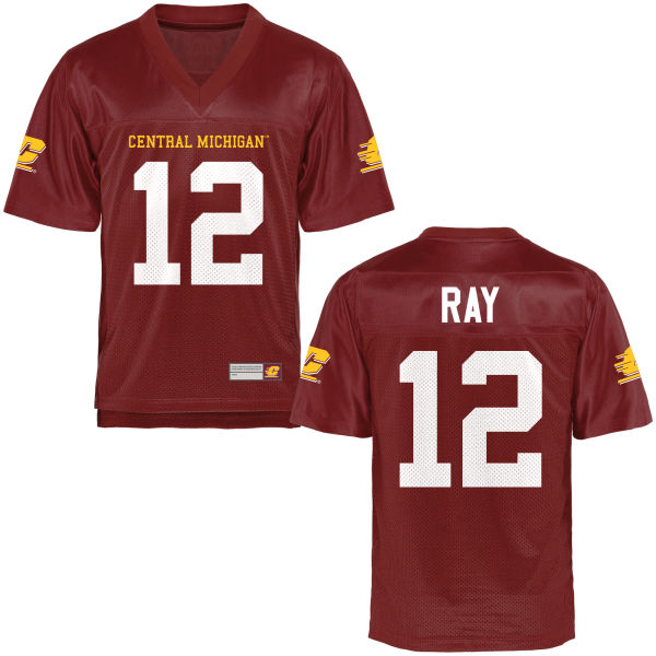 Men's Marcel Ray Central Michigan Chippewas Replica Football Jersey Maroon