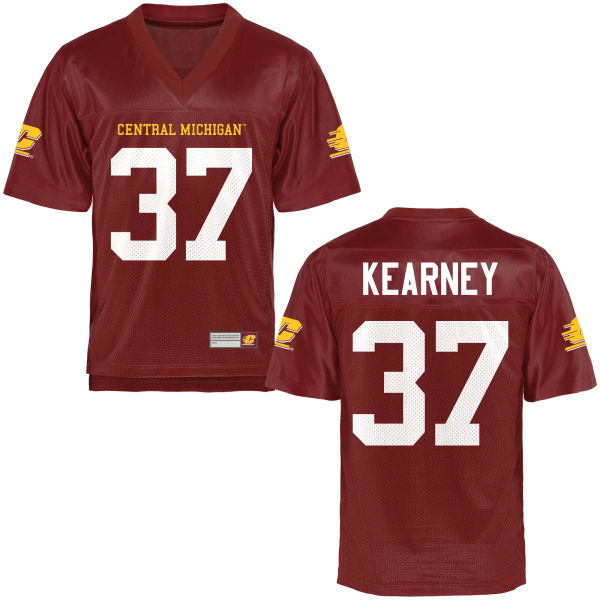 Men's Otis Kearney Central Michigan Chippewas Game Football Jersey Maroon