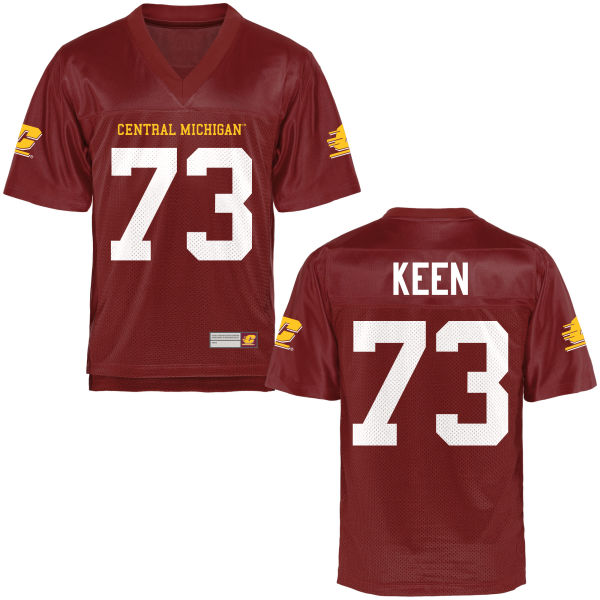 Men's Brandon Keen Central Michigan Chippewas Game Football Jersey Maroon