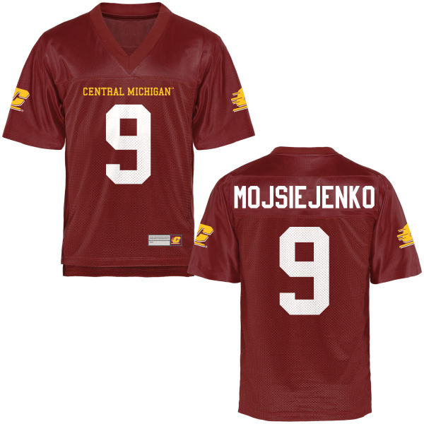 Men's Cooper Mojsiejenko Central Michigan Chippewas Game Football Jersey Maroon