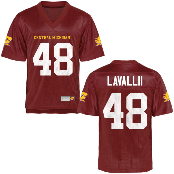 Youth Oakley Lavallii Central Michigan Chippewas Authentic Football Jersey Maroon