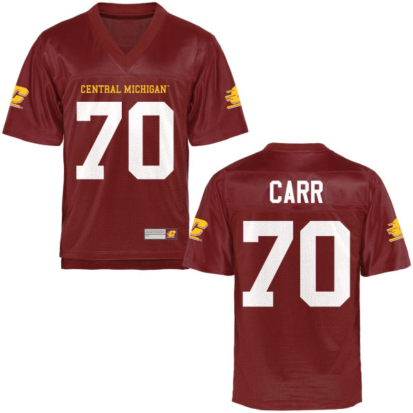 Men's Shakir Carr Central Michigan Chippewas Authentic Football Jersey Maroon
